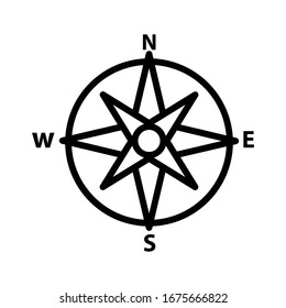 Compass icon vector design template