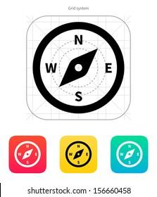 Compass icon. Vector illustration.