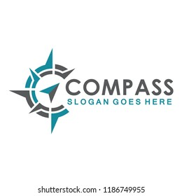 compass icon vector logo template