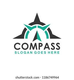 compass icon vector logo template