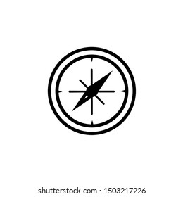 Compass Icon Vector. Simple flat symbol. Perfect Black pictogram illustration on white background.