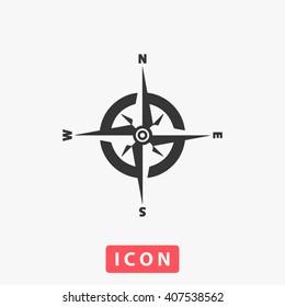 compass Icon Vector. Simple flat symbol. Illustration pictogram