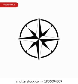 Compass icon vector. Simple navigation sign