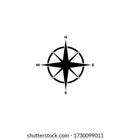 Compass icon.Navigation sign..Vector illustration of compass