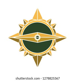 compass icon-north sign-geography icon-position sign-navigation illustration-longitude vector