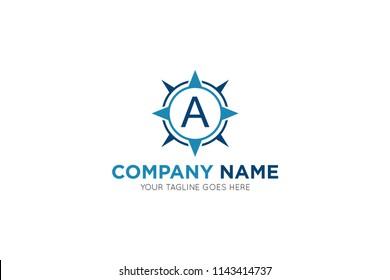 compass letter a logo, icon, symbol