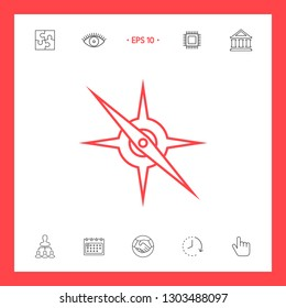 Compass line icon. Graphic elements for your design