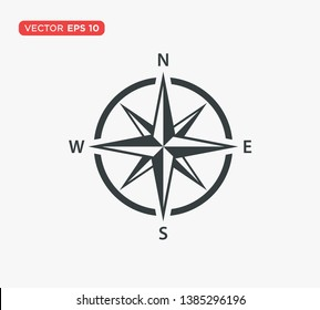Compass Line Icon Vector Illustration