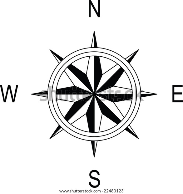 Compass Linear Drawings Easy Export Dxf Stock Vector (Royalty Free