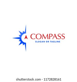 Compass logo design concept related to adventure, nautical, direction or travel