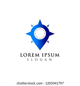 compass logo design. location icon symbol