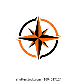 compass logo design vector creative idea