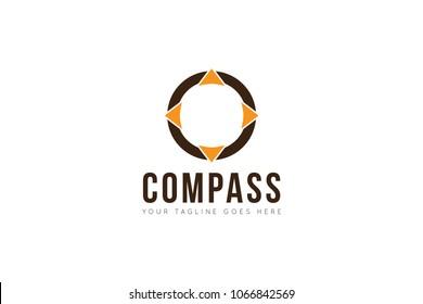 compass logo, icon, symbol, ilustration design template