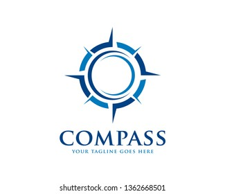 Compass Logo Template Vector Illustration