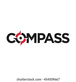 compass logo vector.