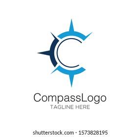 compass logo vector concept design template
