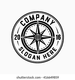 Compass logo. Vector and illustration.