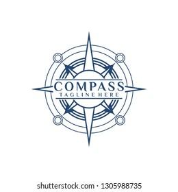 Compass Logo Vector Illustration Template