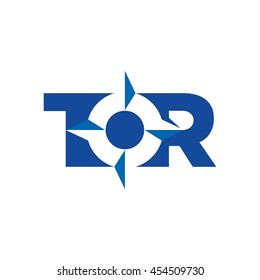 compass logo vector. letter T and R