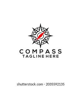 Compass logo vector. Compass logo template