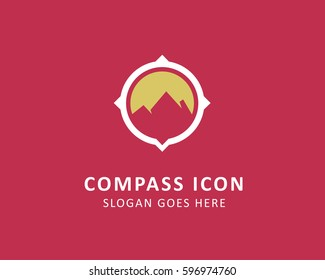 Compass logo vector, traveling icon