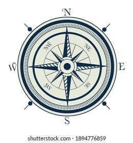 compass nautical gray element icon vector illustration design