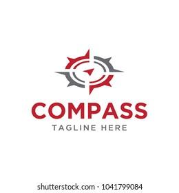 compass navigation design logo template