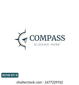 compass navigation icon vector logo template design element vector eps 10