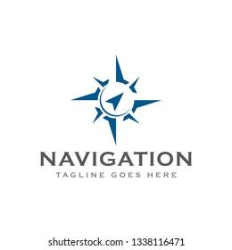 compass navigation logo icon vector template