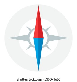 Compass Needle Vector Icon or Logo Concept