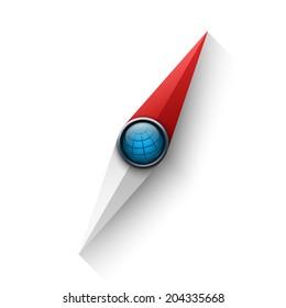 Compass needle vector illustration
