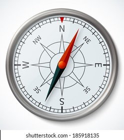 Compass on a white background. Vector illustration