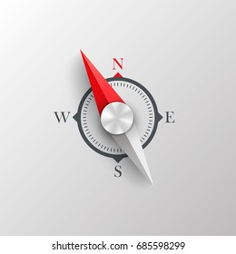Compass on a white background. Vector Illustration.
