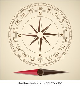Compass outline vector