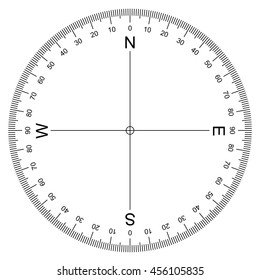 Compass Protractor vector