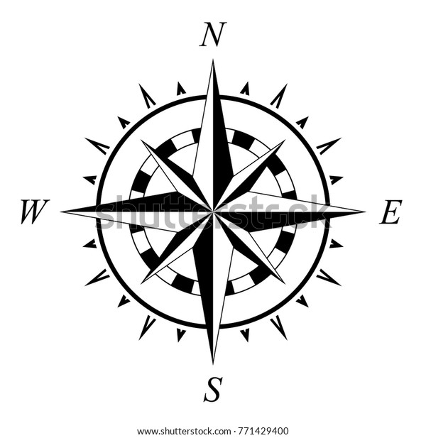 Compass Rose Compassrose Wind Rose Marine Stock Vector Royalty Free 771429400