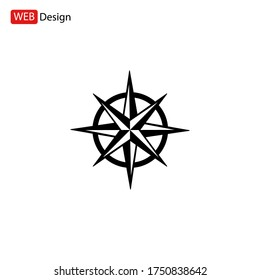 Compass rose icon. Vector illustration EPS 10.