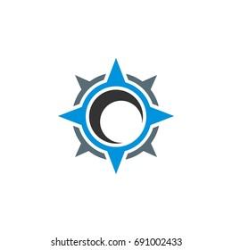 Compass Rose Star Logo Template Illustration Design. Vector EPS 10.