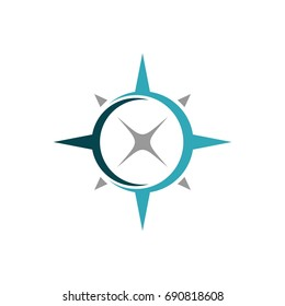 Compass Rose Swoosh Logo Template