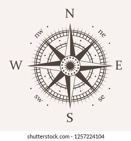 compass rose vector icon