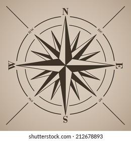 Compass rose. Vector illustration.