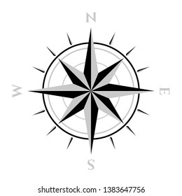 compass sign, icon, symbol, logo, vector graphic resource