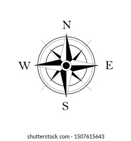 Compass simple icon. EPS 10.