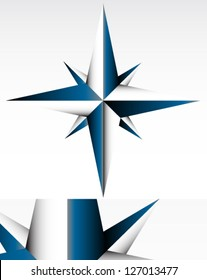 Compass Spatial Geometric Graphic