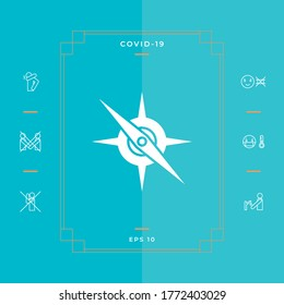 Compass symbol icon. Graphic elements for your design