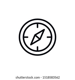 Compass, travel icon. Element of travel icon. Thin line icon