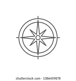 compass vector icon concept design isolated on white background
