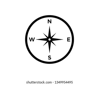 compass vector icon template