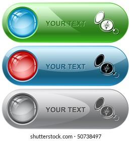Compass. Vector internet buttons.