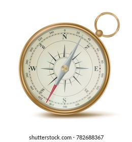 Compass Vector. Compass Sign. Navigation Sign. Vintage Style. Isolated On White Background Illustration